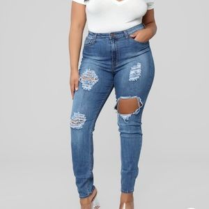 Fashion Nova Seek and Destroy Jeans- Light Stone